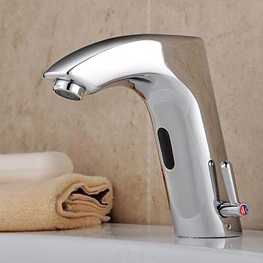 robinet de l 39 vier en laiton salle de bain avec capteur automatique chaud et froid f0112a. Black Bedroom Furniture Sets. Home Design Ideas