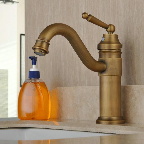 vintage centerset cuivre antique mitigeur en laiton lavabo robinet. Black Bedroom Furniture Sets. Home Design Ideas