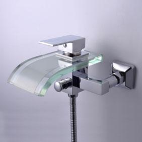 contemporaine robinet de baignoire cascade mural f0517w. Black Bedroom Furniture Sets. Home Design Ideas