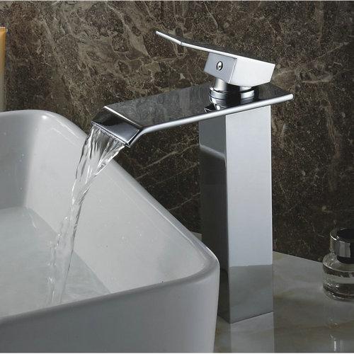 Changement de couleur robinet conduit lavabo cascade salle for Robinet salle de bain cascade led