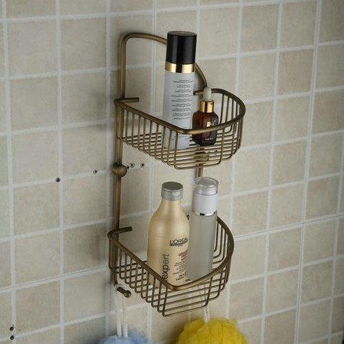 2 tier laiton antique savon panier tab1010 - Alinea Salle De Bain Accessoires