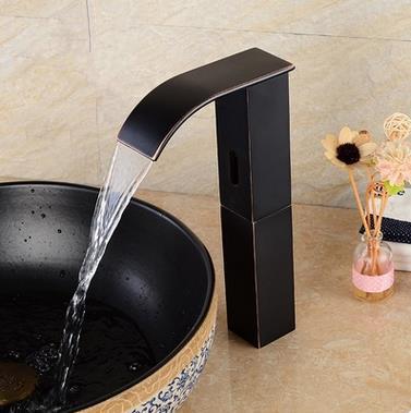 Robinet de l 39 vier en laiton salle de bain avec capteur - Robinet automatique a detecteur infrarouge ...