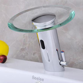 Robinet infrarouge salle de bain robinetterie mitigeur robinet lavabo robinetonline - Robinet automatique a detecteur infrarouge ...