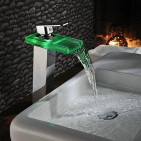 changement de couleur led cascade lavabo robinet chrome t0818hf t0818hf salle de. Black Bedroom Furniture Sets. Home Design Ideas