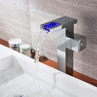 inoxydable led contemporain thermochromique multi couleur acier bec robinet de bain t0815bf. Black Bedroom Furniture Sets. Home Design Ideas